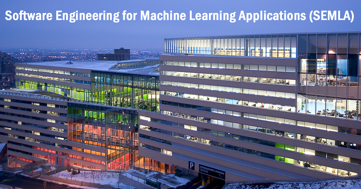 Software Engineering for Machine Learning Application – SEMLA